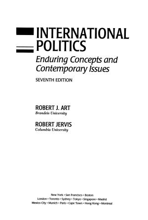 International Politics PDF