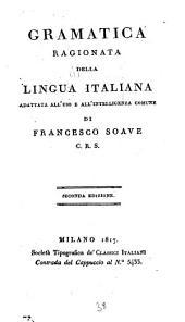 Gramatica ragionata della lingua Italiana