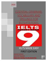 ESSENTIAL GRAMMAR  VOCABULARY AND SPELLINGS FOR IELTS PTE TOEFL PDF