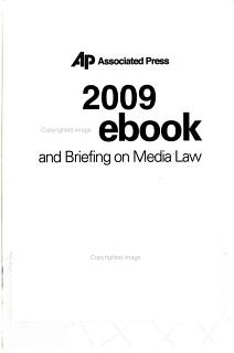 The Associated Press Stylebook 2009 Book