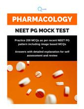 Pharmacology NEET PG Mock Test: Question paper and Answer Booklet