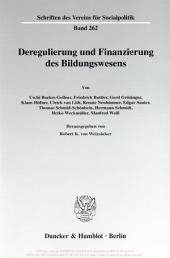 Deregulierung und Finanzierung des Bildungswesens