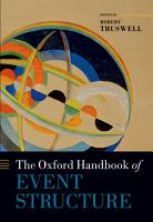 The Oxford Handbook of Event Structure PDF