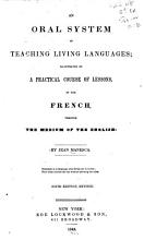 An Oral System of Teaching Living Languages PDF
