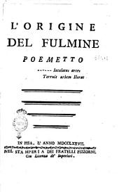 L'origine del fulmine poemetto
