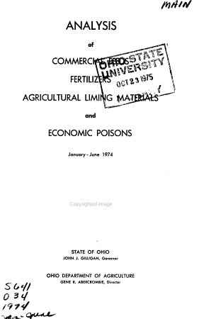 Analysis of Commercial Feeds  Fertilizers  Agricultural Liming Materials and Economic Poisons PDF