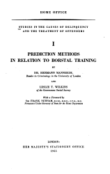 Prediction Methods In Relation To Borstal Training Book PDF