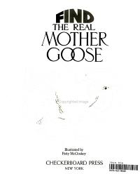 Find the Real Mother Goose Book