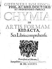 Chymia in artis formam redacta