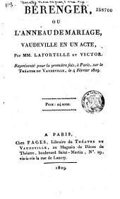 Bérenger, ou l'Anneau de mariage: vaudeville en un acte