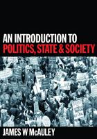 An Introduction to Politics  State and Society PDF