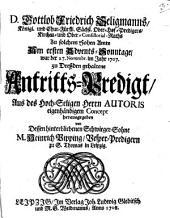 Antritts-Predig