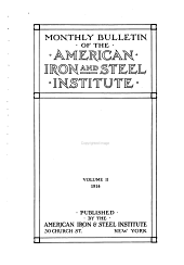 Bulletin of the American Iron and Steel Institute: Volume 2
