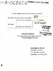 California. Supreme Court. Records and Briefs: S044102, Petition for Review
