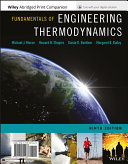 Fundamentals of Engineering Thermodynamics + Wileyplus Card