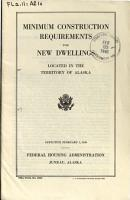 Minimum Construction Requirements for New Dwellings Located in the Territory of Alaska PDF
