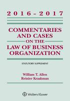 Commentaries and Cases on the Law of Business Organizations PDF