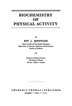 Biochemistry of Physical Activity PDF