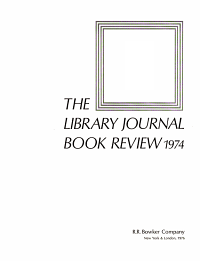 The Library Journal Book Review