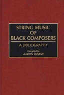 String Music of Black Composers PDF