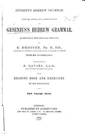 Student's Hebrew Grammar: From the 21st German Ed. of Gesenius's Hebrew Grammar, as Specially Prepared and Improved by E. Rœdiger ...