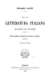 Della letteratura italiana esempj e giudizj: Parte 1