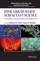 Ionic Liquid Based Surfactant Science PDF