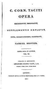 C. Corn. Taciti Opera: Volume 3