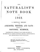 The Naturalist's Note Book