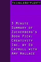 3 Minute Summary of Zuckerberg s Book Pick Creativity Inc  by Ed Catmull with Amy Wallace PDF