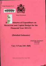 Draft Estimates of Expenditure on Recurrent and Capital Budget for the Financial Year     PDF