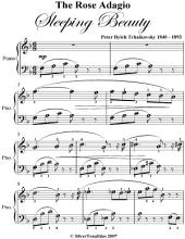 Rose Adagio Sleeping Beauty Easy Piano Sheet Music