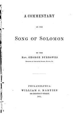 A Commentary on the Song of Solomon
