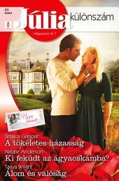 Júlia különszám 80. kötet: A tökéletes házasság (Nyári esküvők 1.), Ki feküdt az ágyacskámba?, Álom és valóság