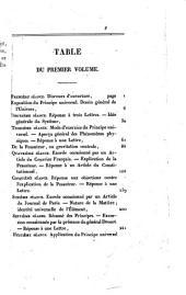 Cours de philosophie générale, ou Explication simple et graduelle de tour les faits de l'order physique...