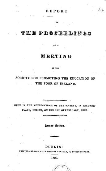 Report of the proceedings at a meeting of the Society  8th annual meeting   PDF