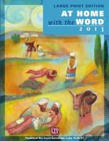 At Home with the Word 2013   Large Print Edition PDF