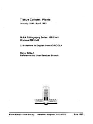 Tissue Culture PDF
