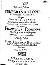 Diss. pol. de peregrinatione Germanici Caesaris