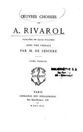 Oeuvres choisies de Rivarol