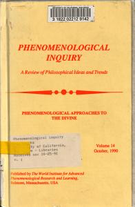 Phenomenological Inquiry PDF