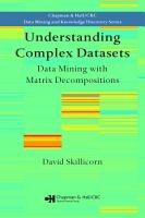 Understanding Complex Datasets PDF