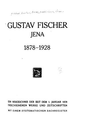 Gustav Fischer  Jena  1878 1928 PDF