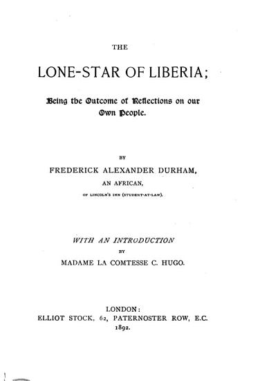 The Lone star of Liberia PDF