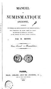 Manuel de numismatique ancienne: Volume2