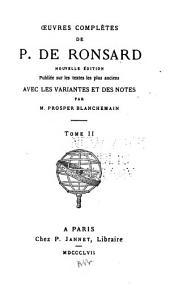 Oeuvres complètes de P. de Ronsard: Les odes