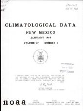 Climatological data: New Mexico, Volume 87