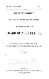 Annual Report of the Secretary of the Board of Agriculture: Volume 38, Part 1890