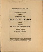 Funérailles de M. le Bon Thenard: discours de M. Geoffroy-Saint-Hilaire ... le mardi 23 juin 1857
