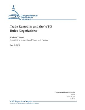 Trade Remedies and the WTO Negotiations PDF